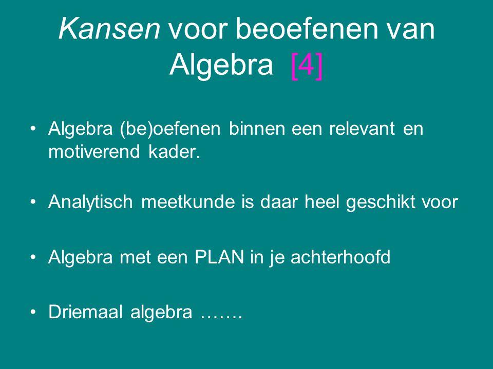 Kansen voor beoefenen van Algebra [4]